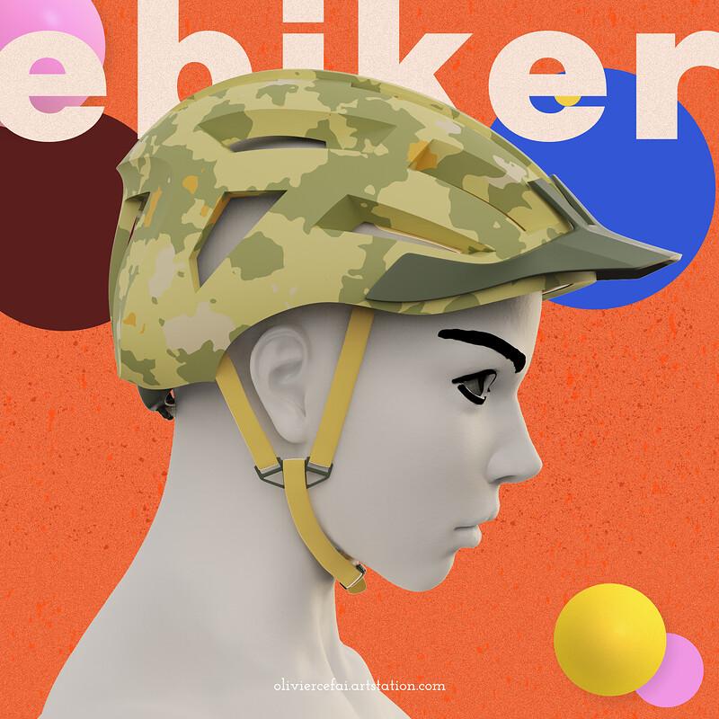 e-bike helmet - modeling & design visualization