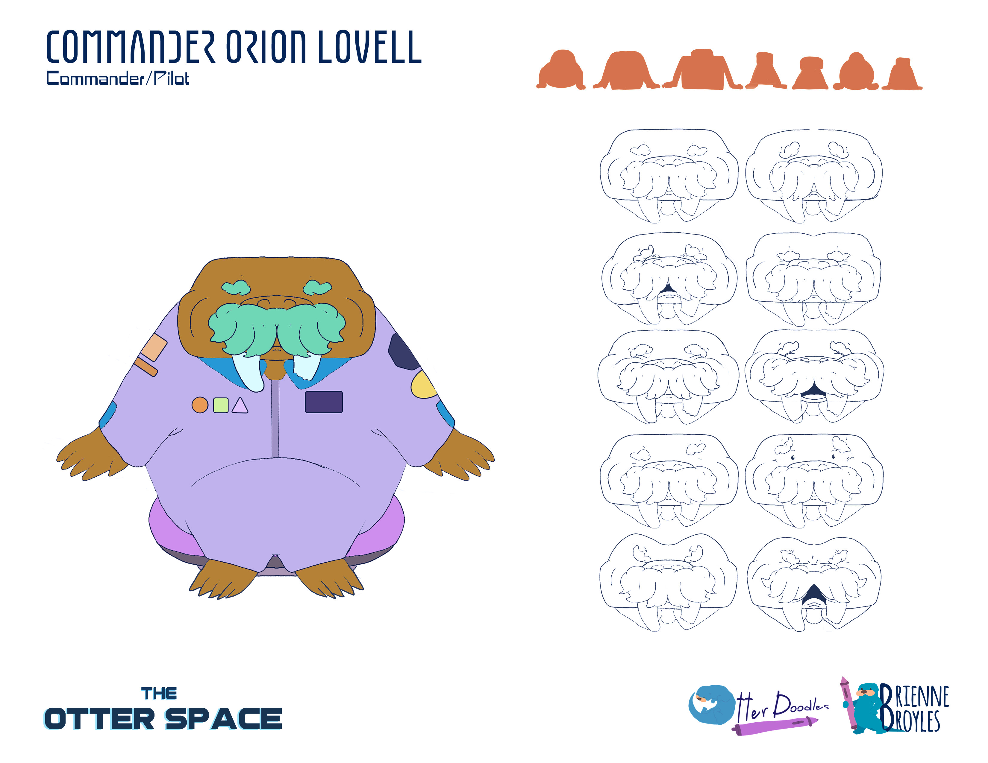 The Otter Space: Orion Lovell Expressions Model Sheet
