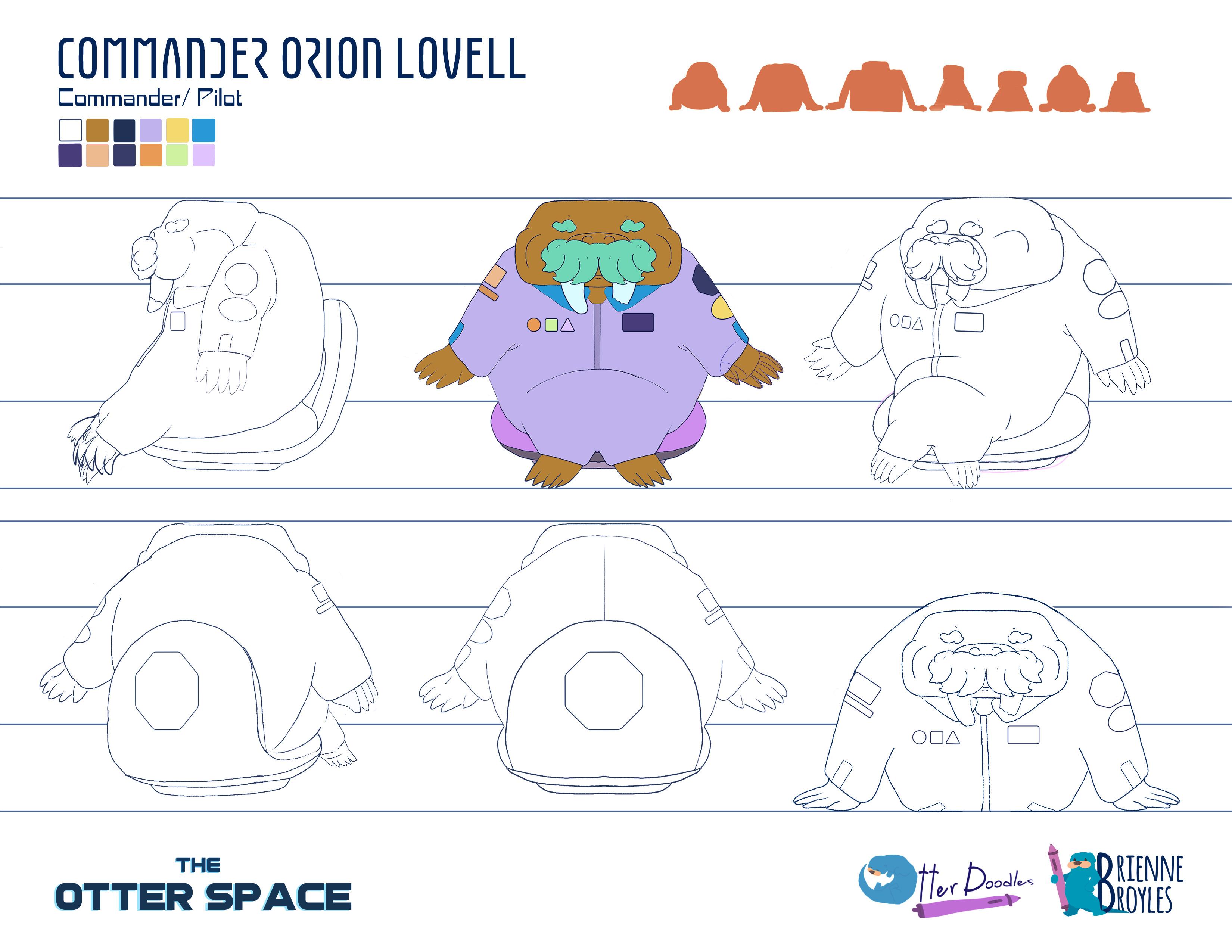 The Otter Space: Orion Lovell Turnaround Model Sheet