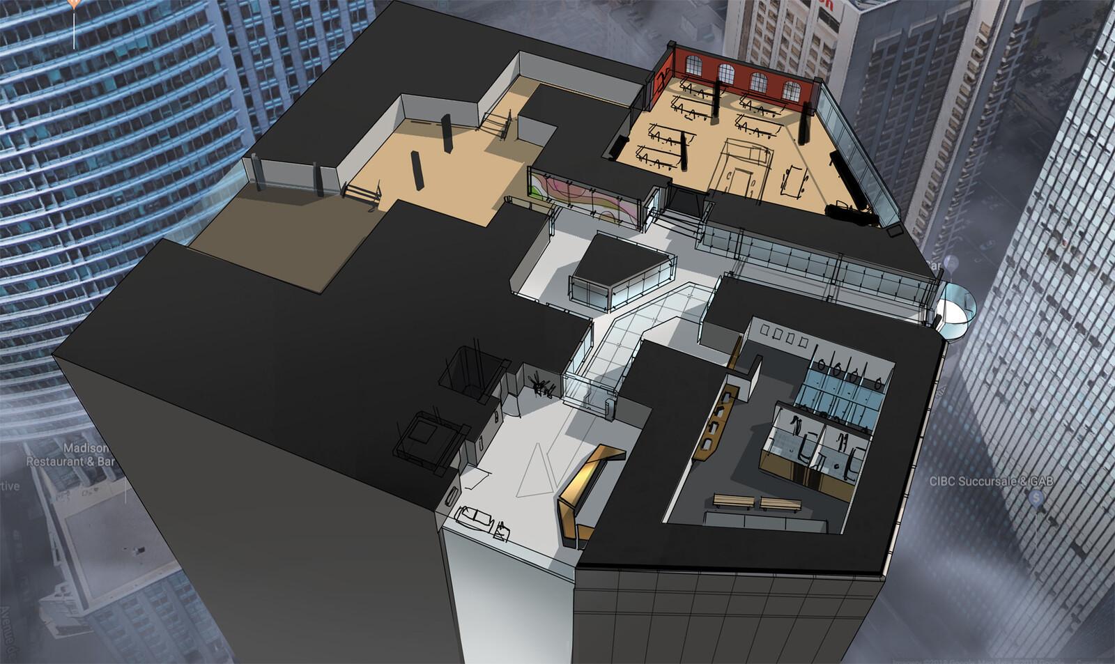 Office area level design