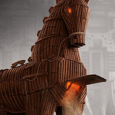 Trojan Horse - Advertising Illustration