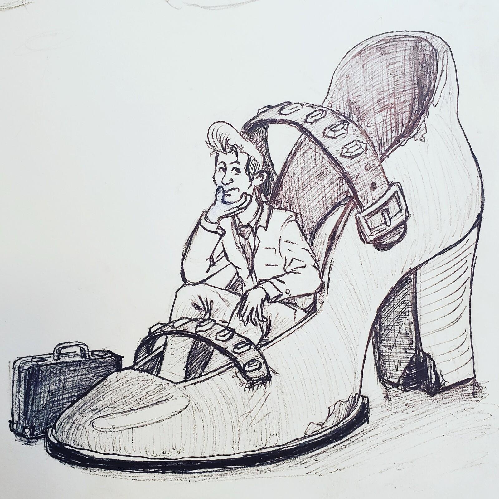 """Inktober 2020 """"Shoe"""""""