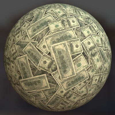 Joshua pelkington dollarbills sphere iray mod