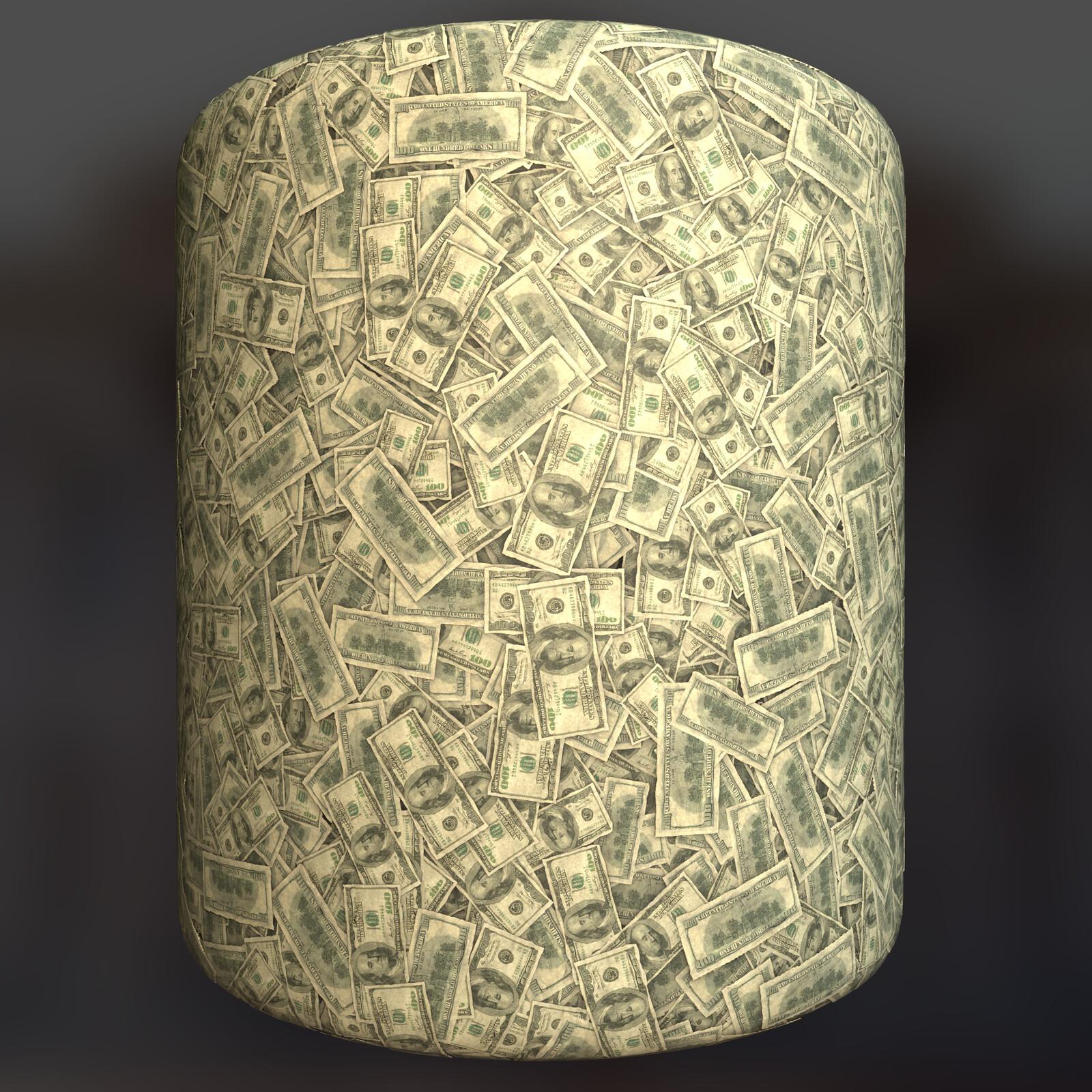 "Messy ""Pile"" of $100 Bills"