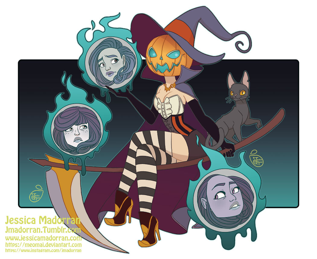 Patreon - Character Design - Headless Witch