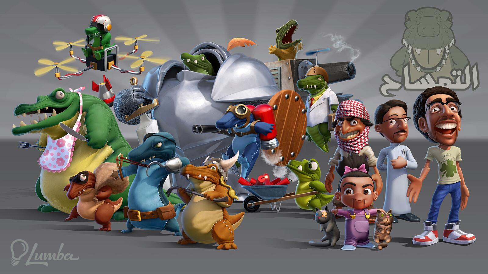 "Lumba: ""Army of Temsa"" Character Designs"