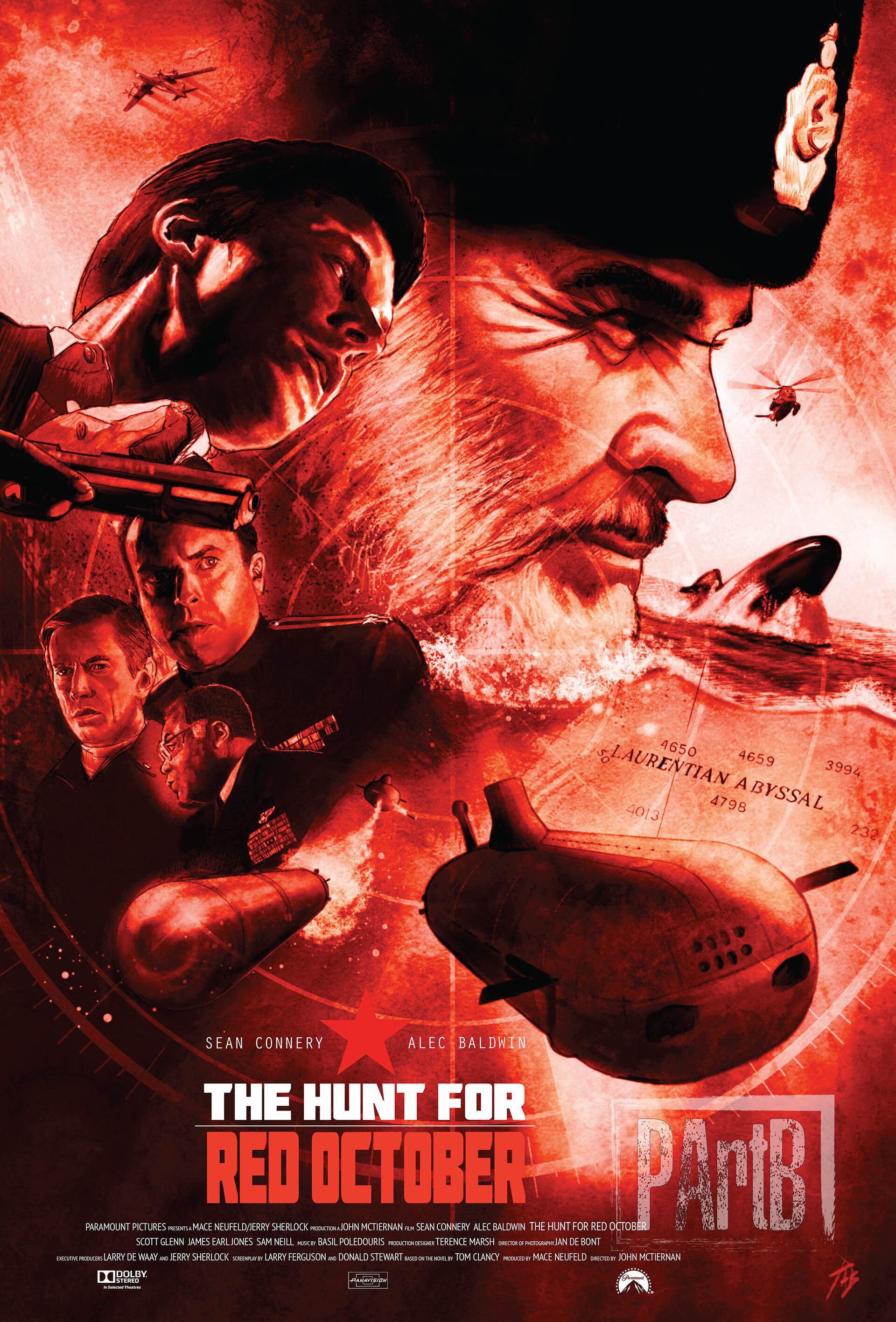 Artstation Sir Sean Connery The Hunt For Red October 1990 Paul Butcher