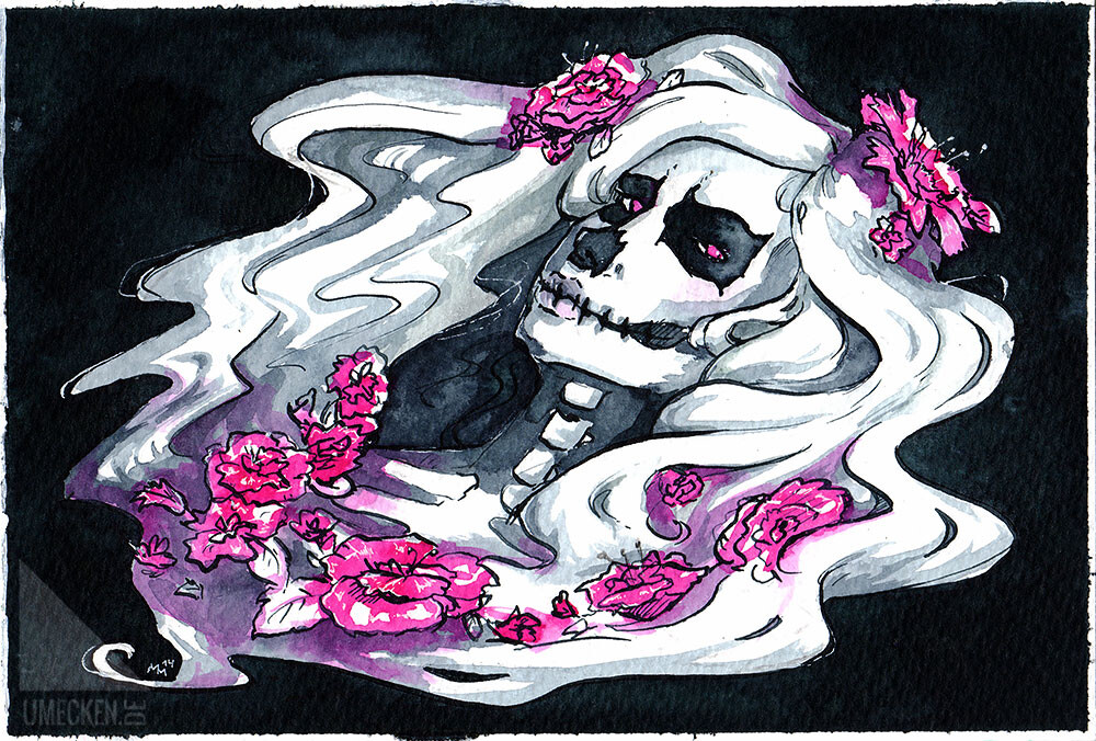 Watercolor and original concept from 2014 (used to have a different nickname back then, thus the other watermark)