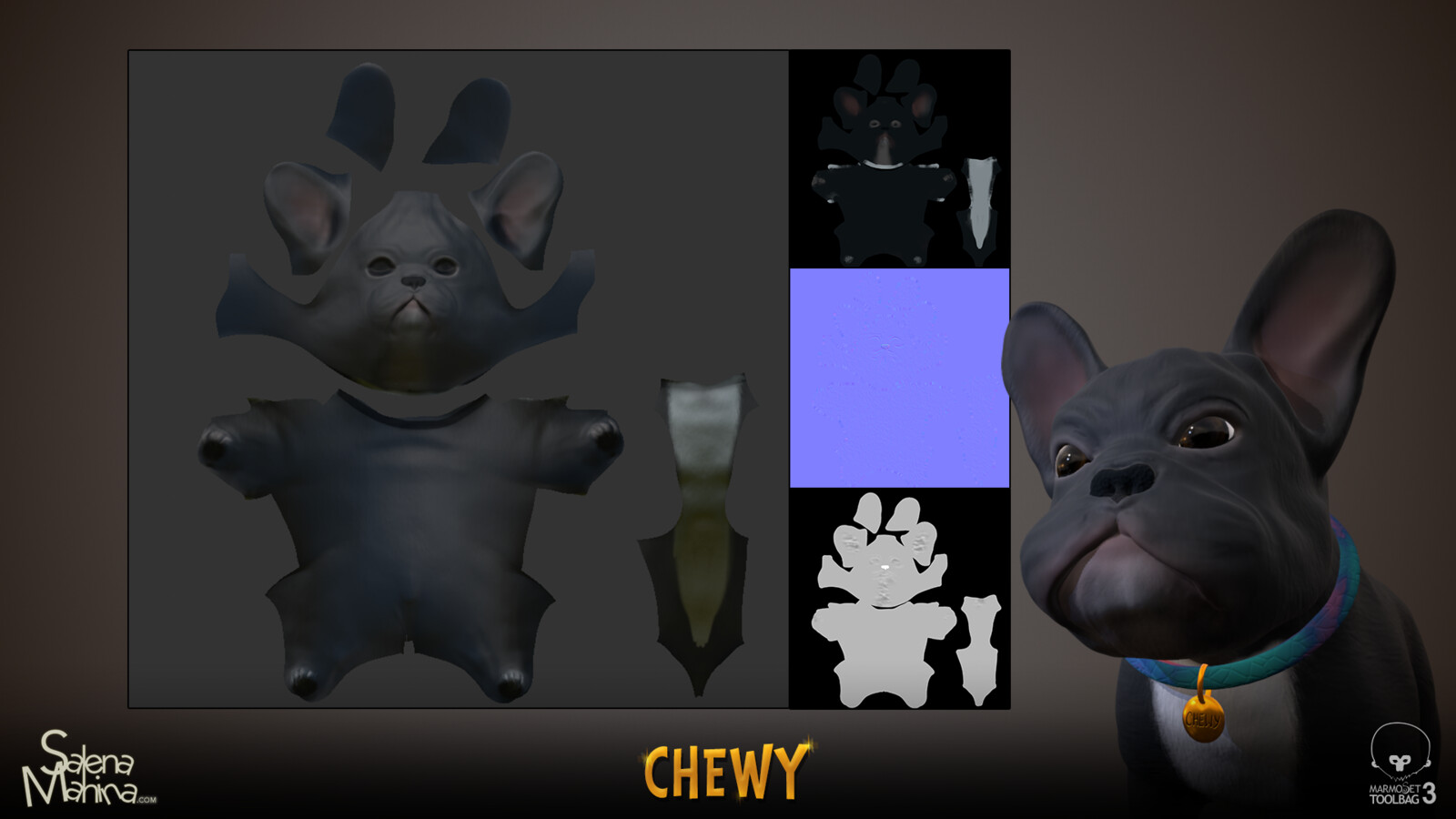 Chewy textures (Albedo, normals, roughness)