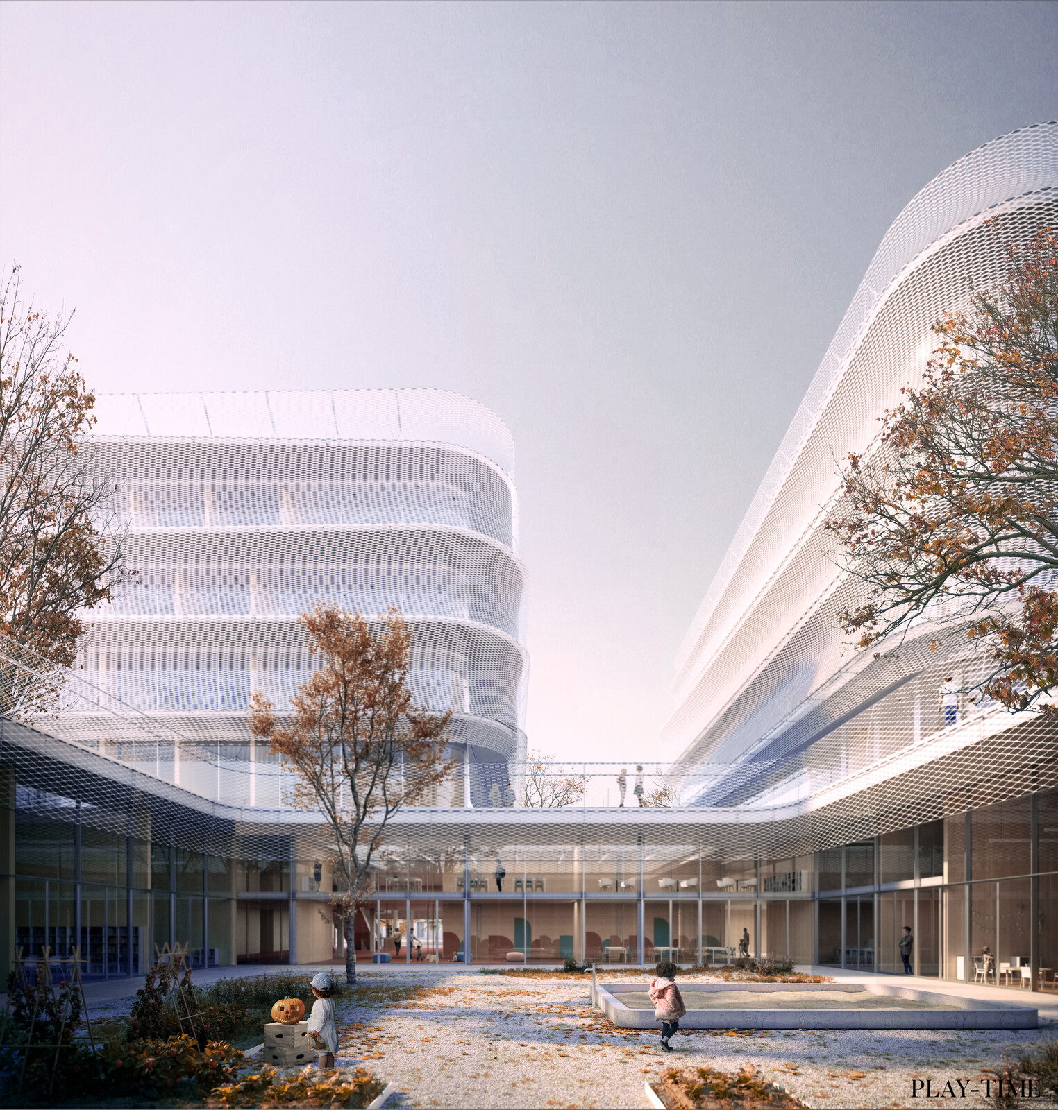 New school in Zurich designed by Alonso Sosa Architects. Image by Play-time