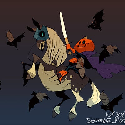 Satoshi matsuura 2020 10 21 pumpkin knight s
