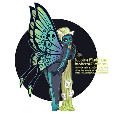 Jessica madorran patreon drawlloween skull fairy 2020 artstation