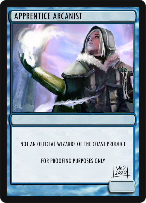 """A fun proxy to see how well the piece works on the """"card size"""""""