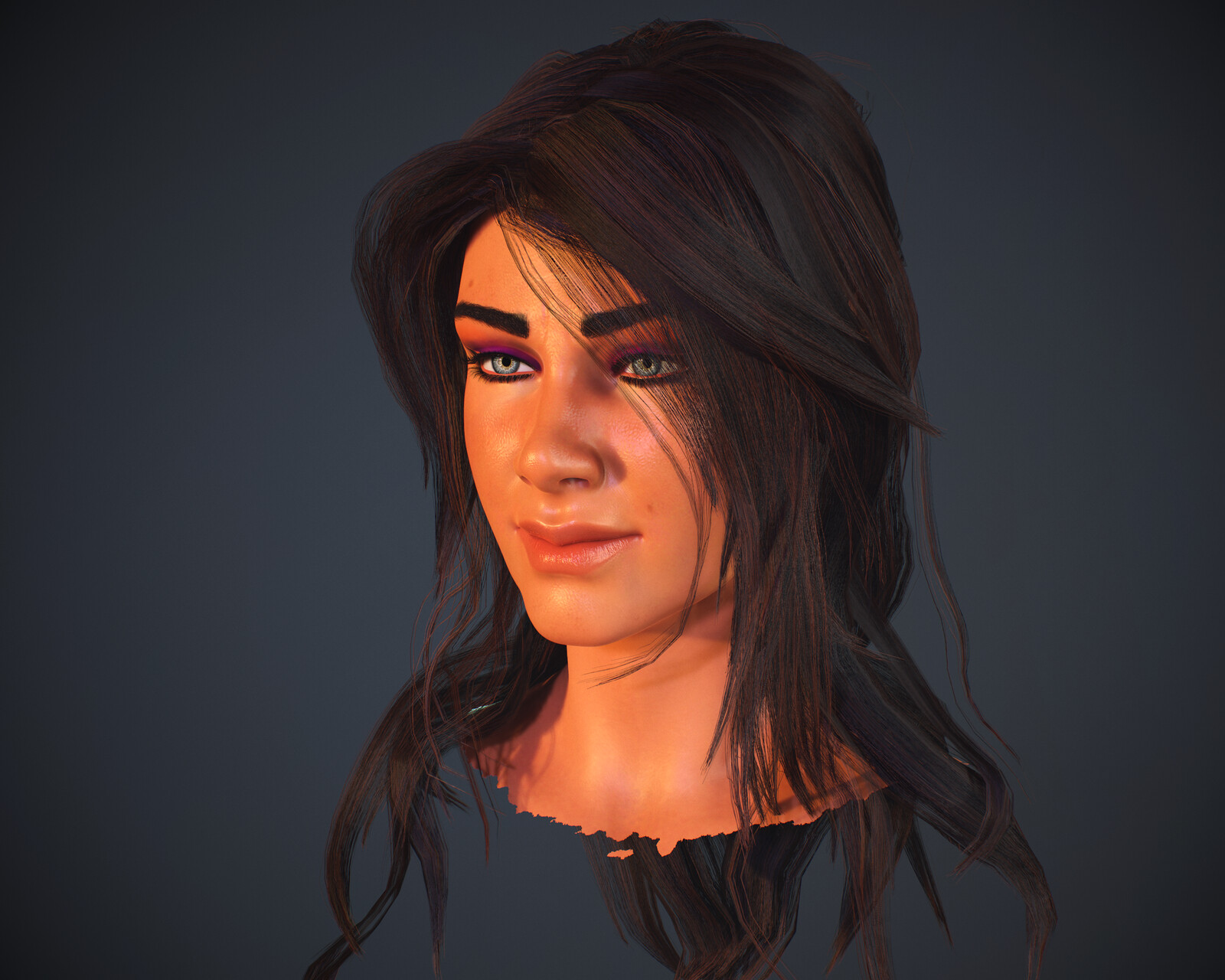 Female Real-Time hairstyle and face