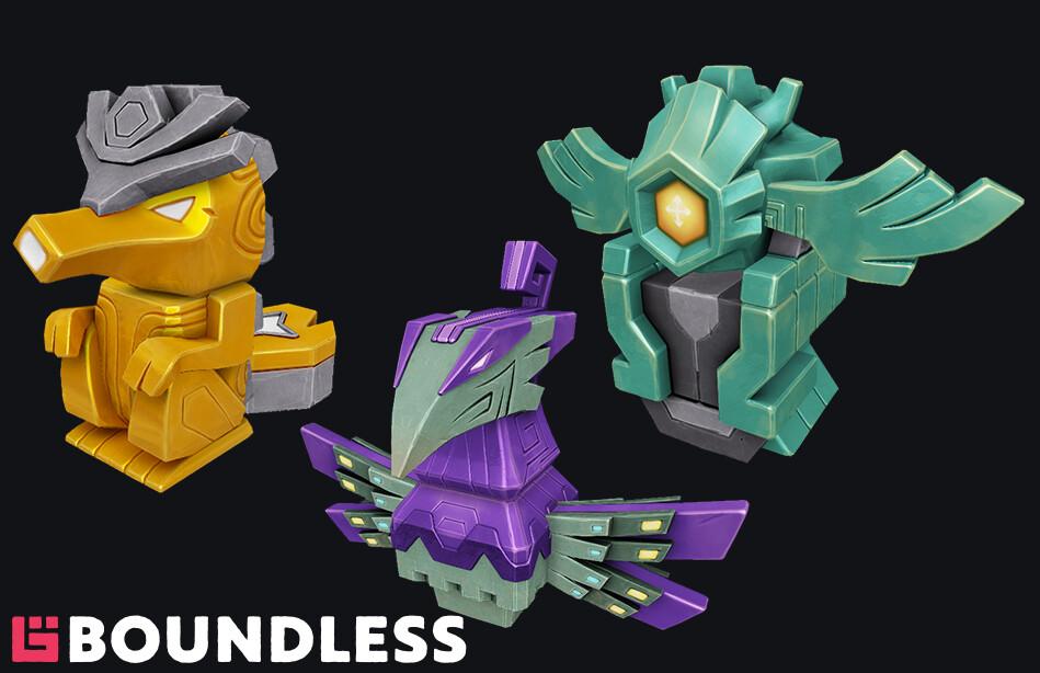 Modular creature statues