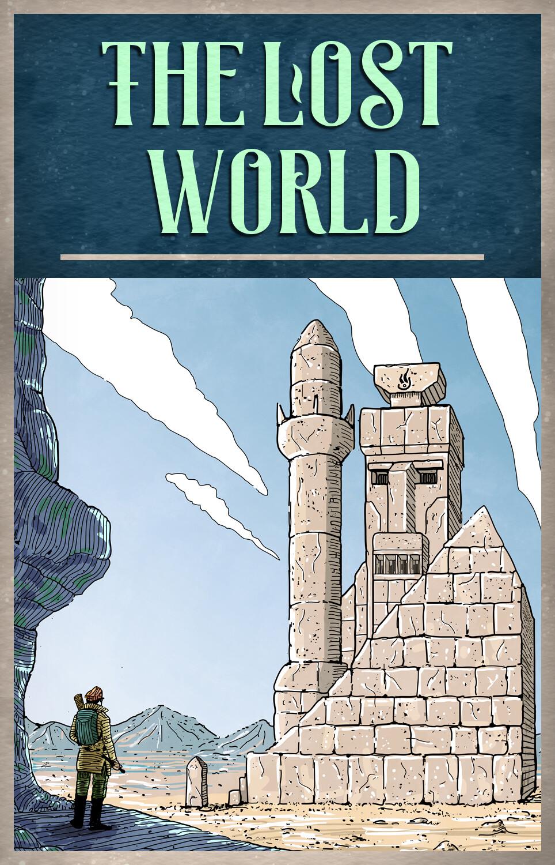 The Lost World raamatu kaane Illustratsioon ja kaanekujundus raamatule