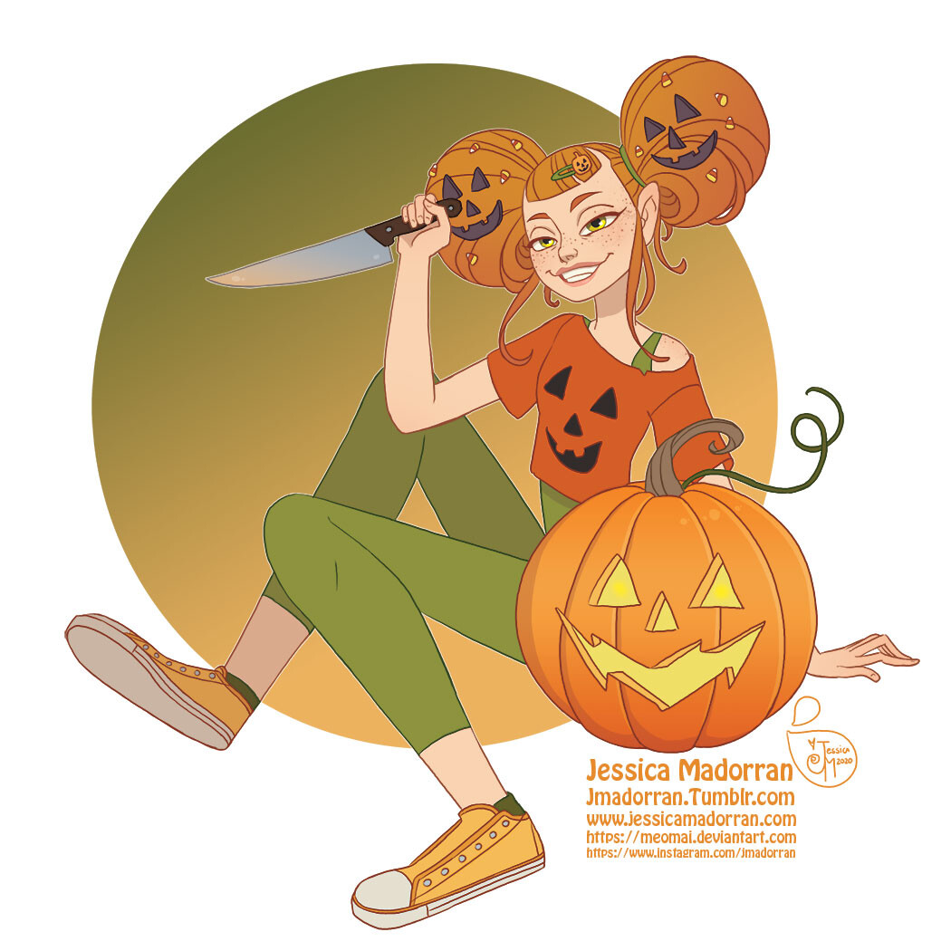 Patreon - Drawlloween 2020 - Pumpkin