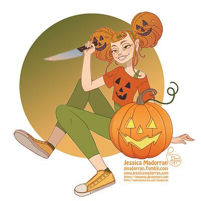 Jessica madorran patreon drawlloween pumpkin 01 2020 artstation