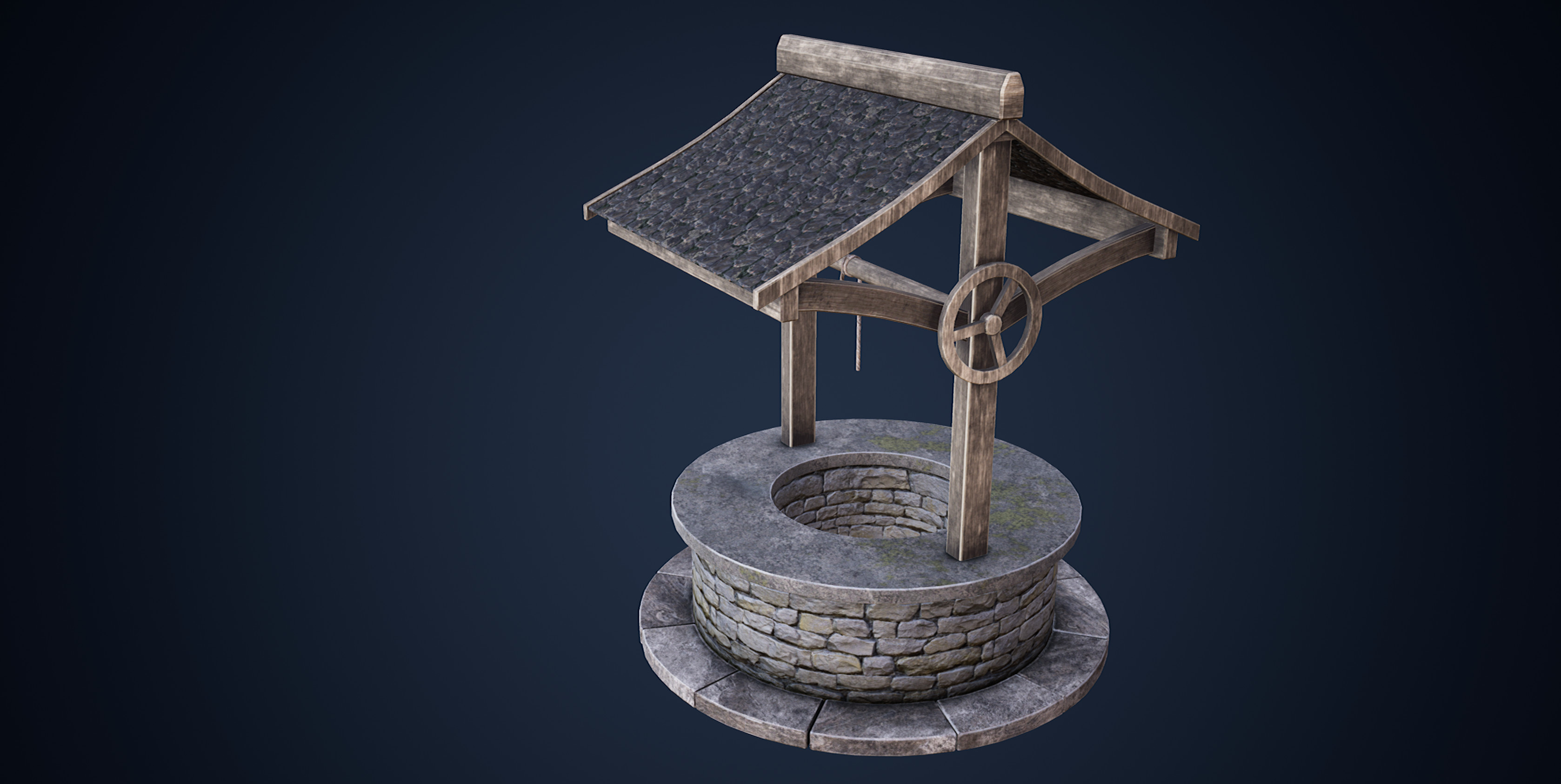 A Well (Painted with Substance)