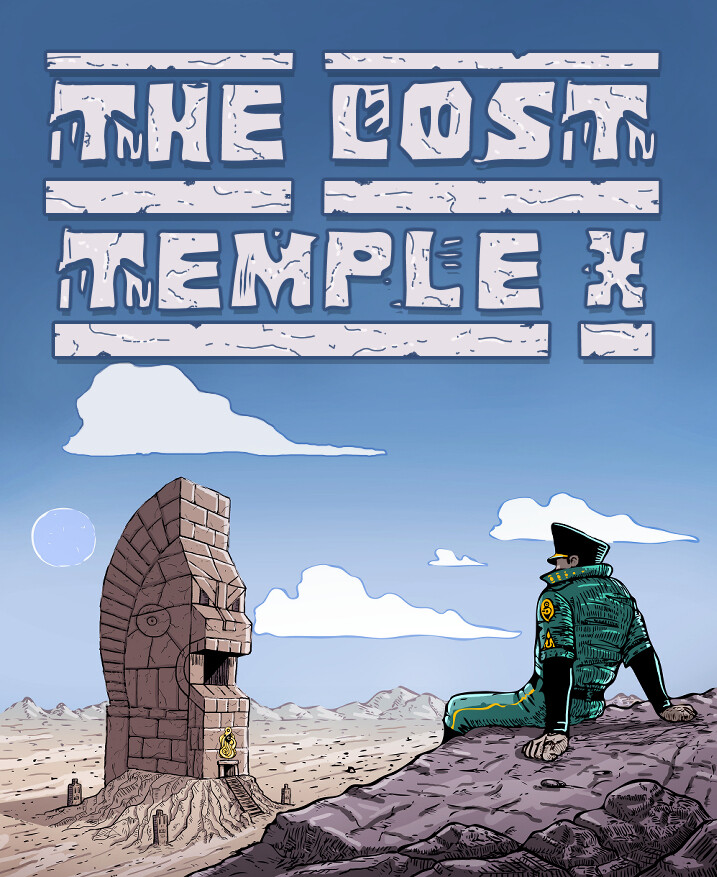 The Lost Temple X raamatu kaane illustratsioon ja kaanekujundus