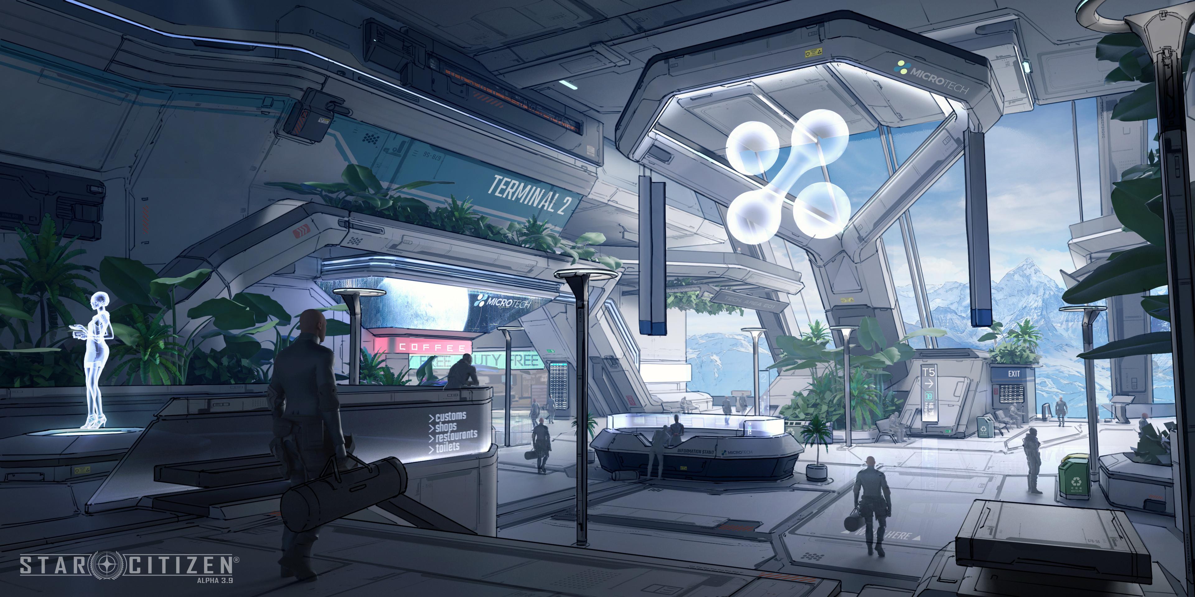 spaceport interior