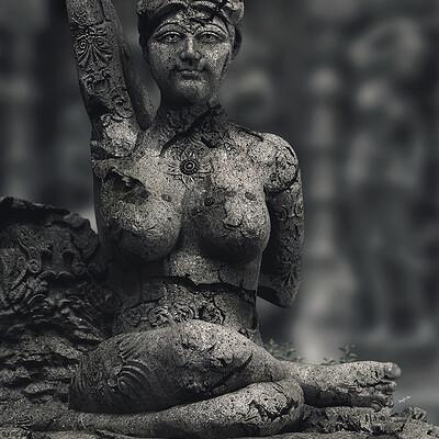 Surajit sen yoga lady digital sculpture surajitsen nov2020 l