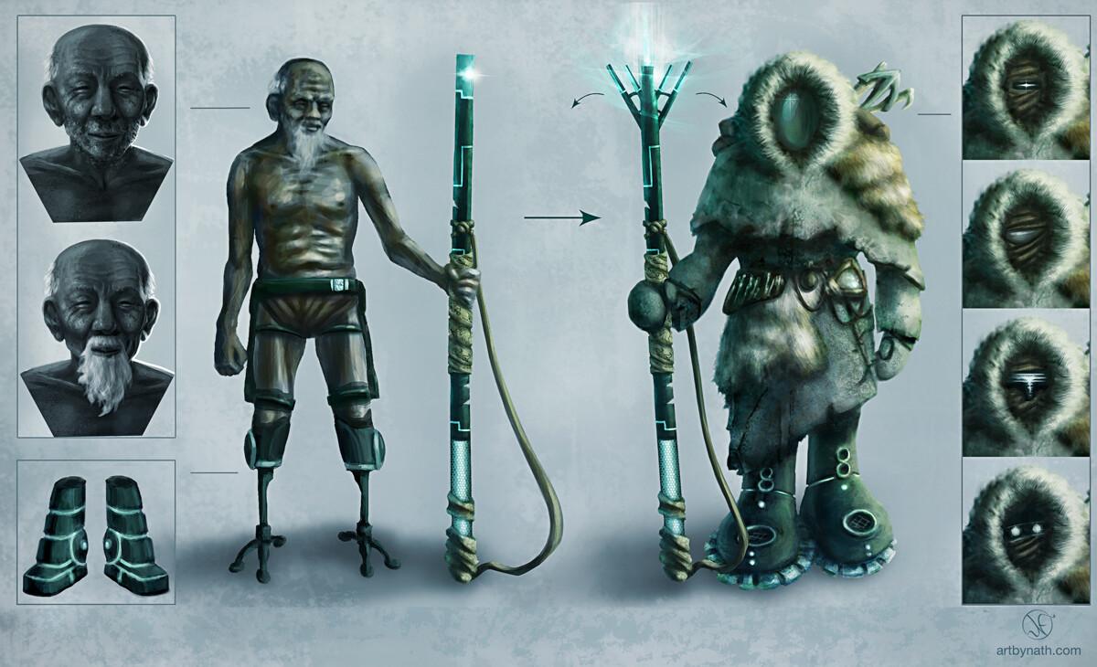 2. Underwater Post-Apocalypse: Main Character
