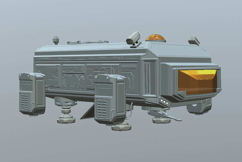 Spaceship created in 3DCoat.