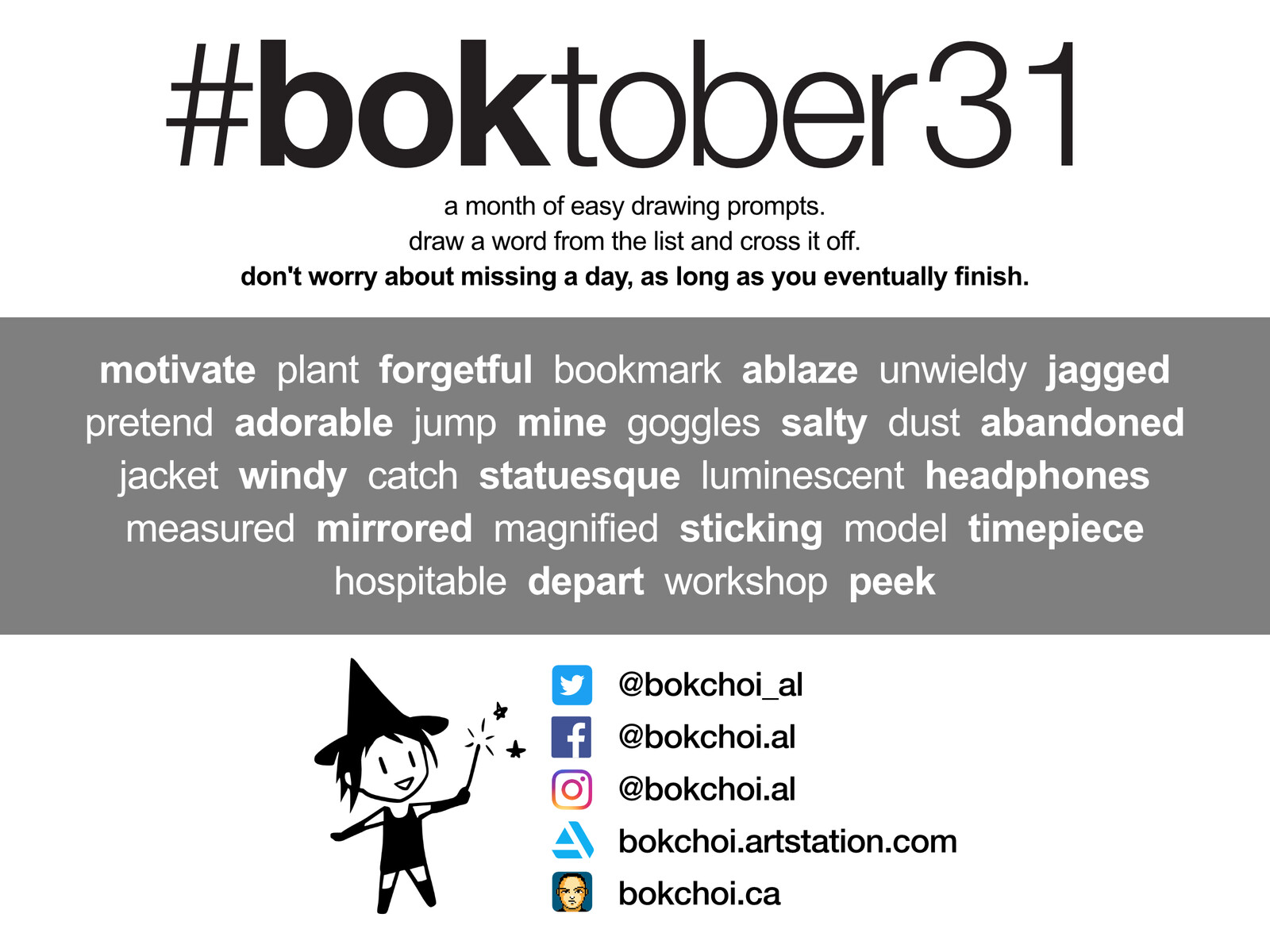 #boktober31 2020 prompt list