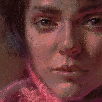 Lane brown pastel portrait 01 sml