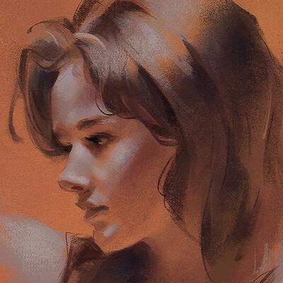 Lane brown pastel portrait 03 sml