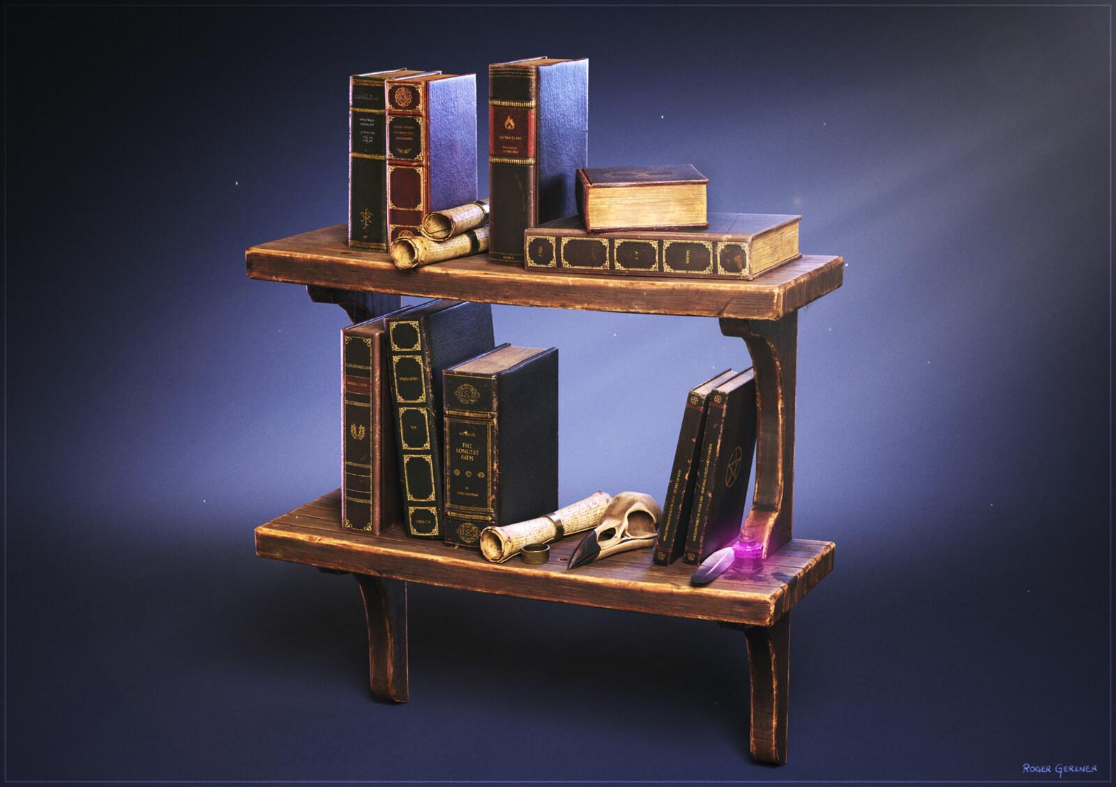 The Old Wizards Bookshelf