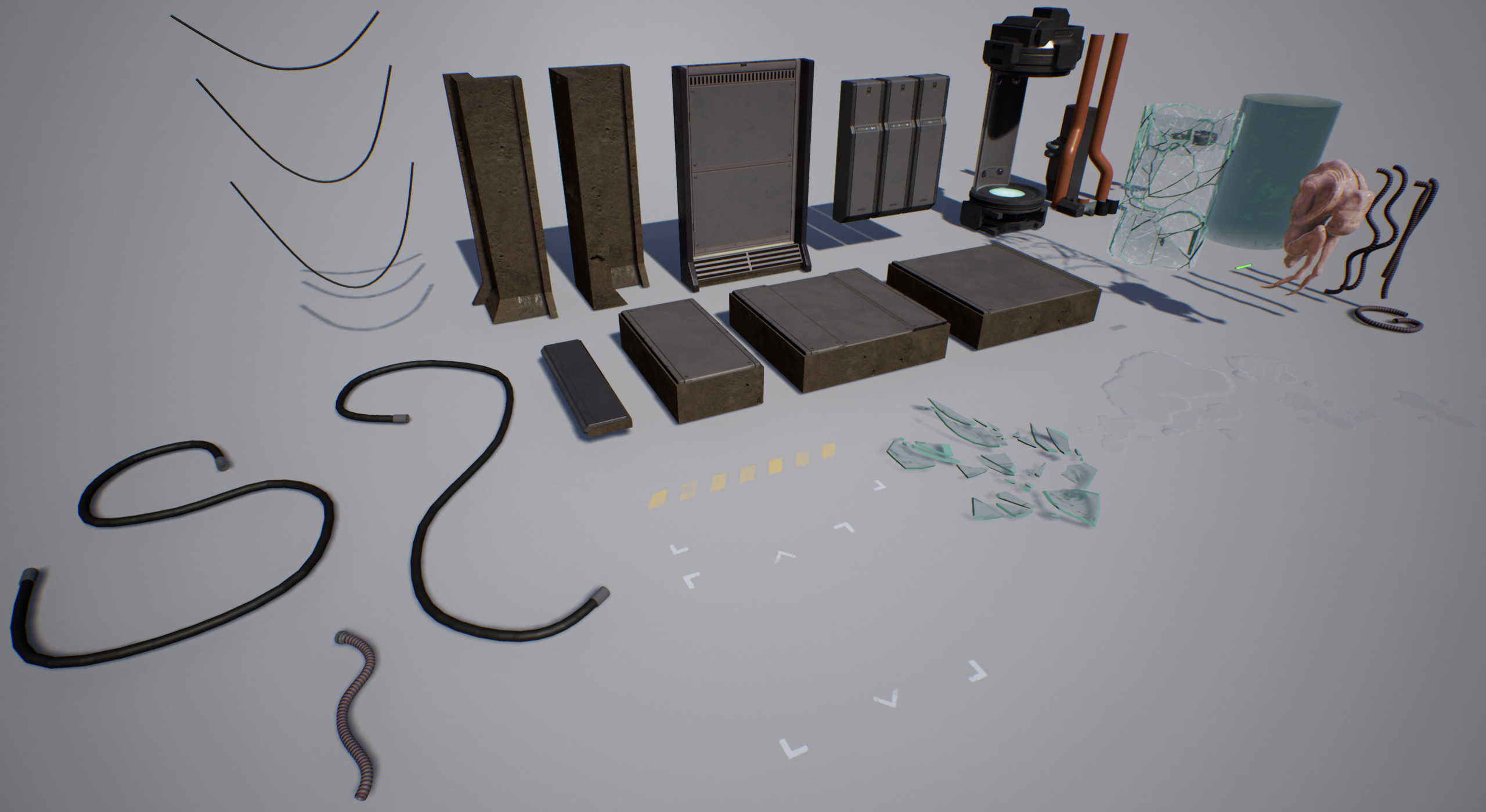 Assets created for scene