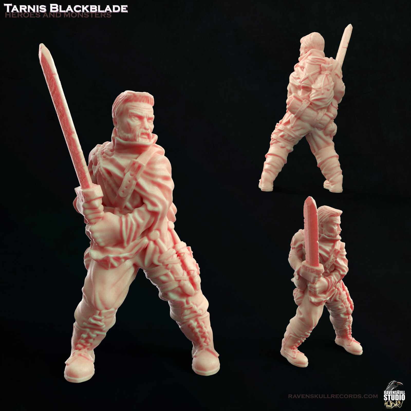 Warrior Miniature: Tarnis Blackblade