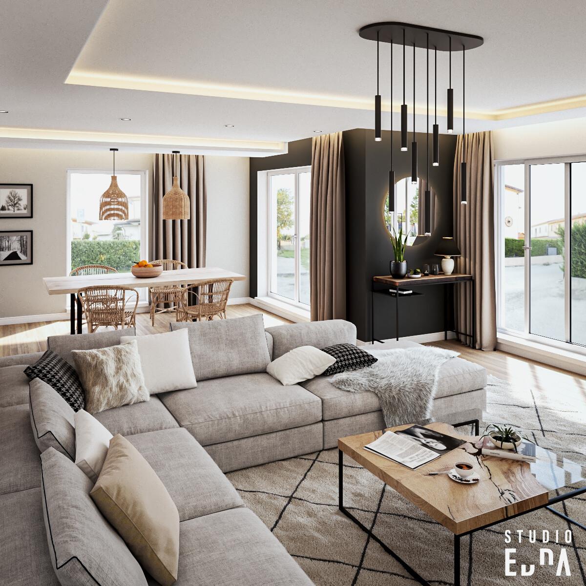 Studio Edna CG - Interior Design - Living Room