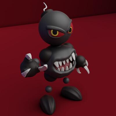 Bas raven sculptober 18 destroy bombboy