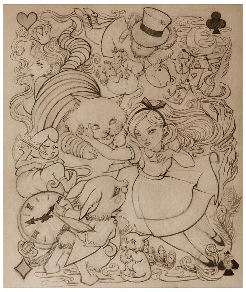 Alice in Wonderland - Inked