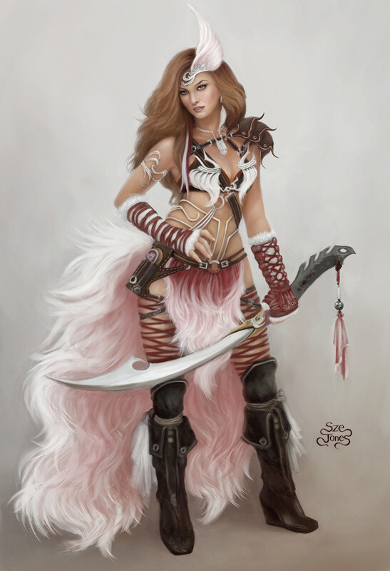 Falconess - Character Design
