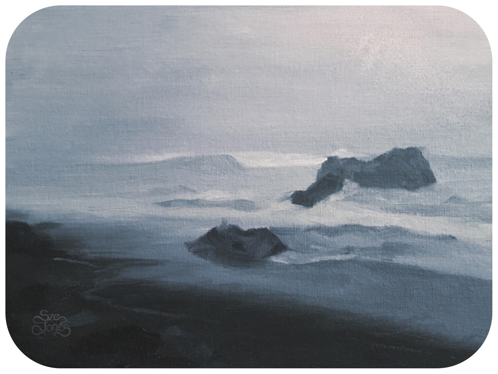 Seascape - Oil of Board