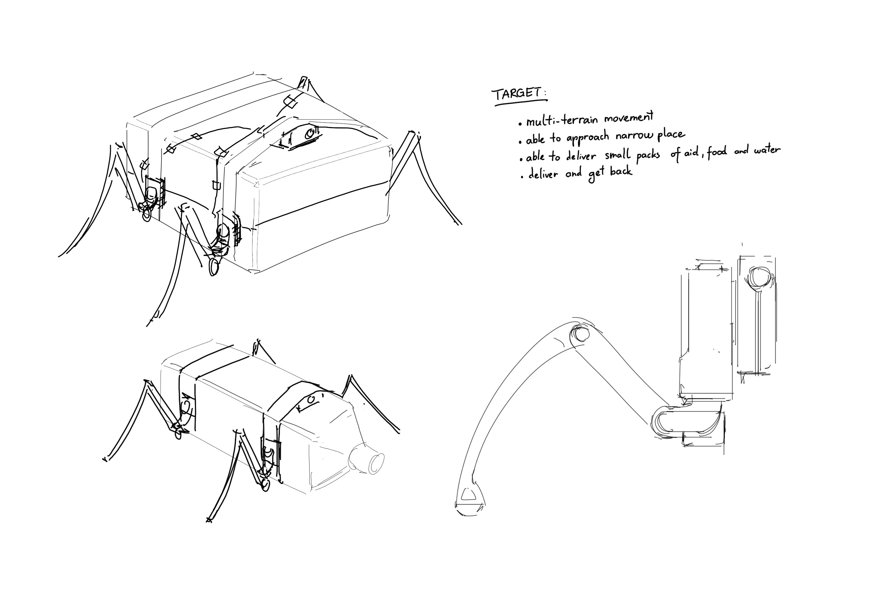 Early idea sketch. Yes it's ugly