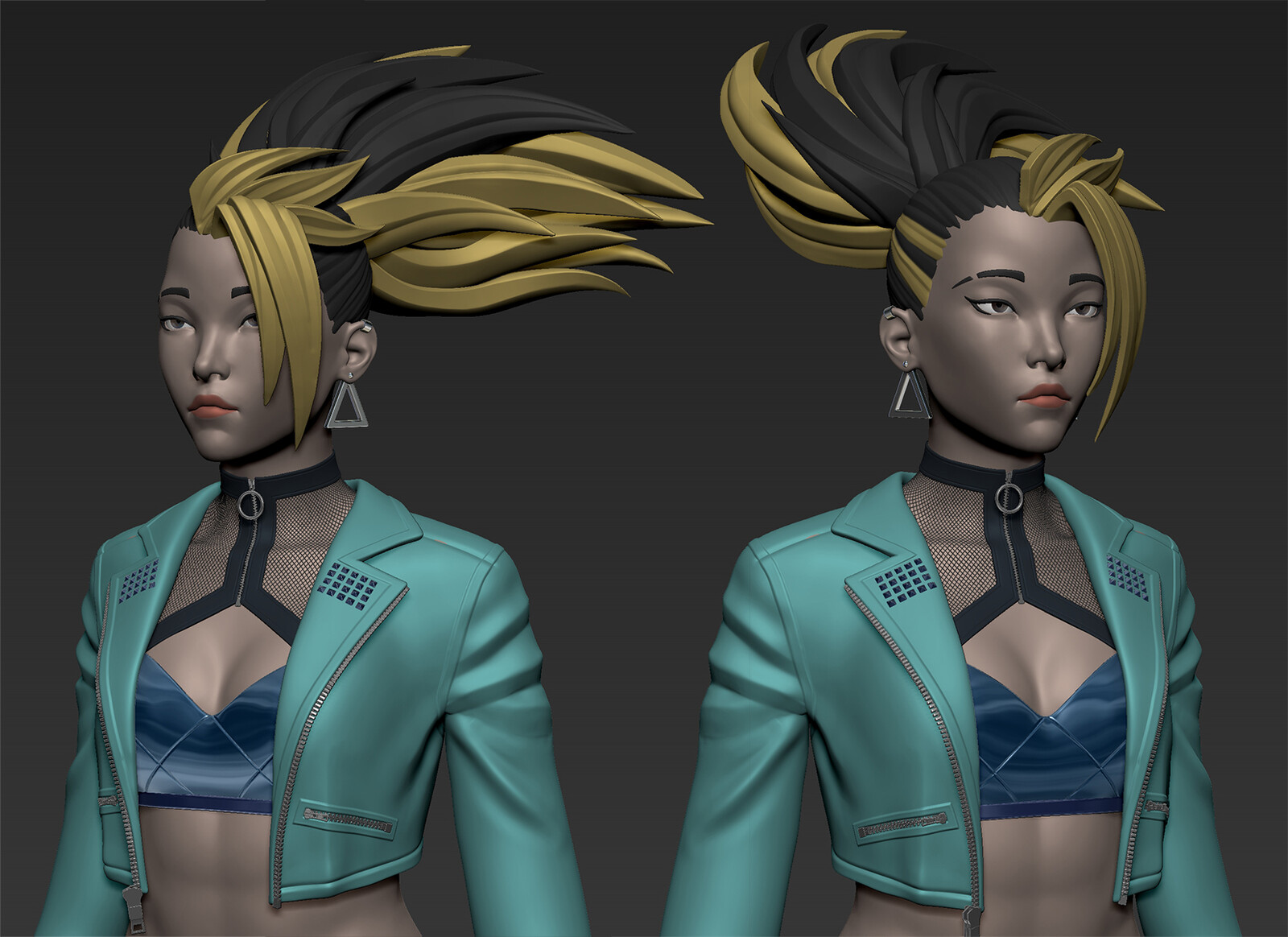 colored version in zbrush!