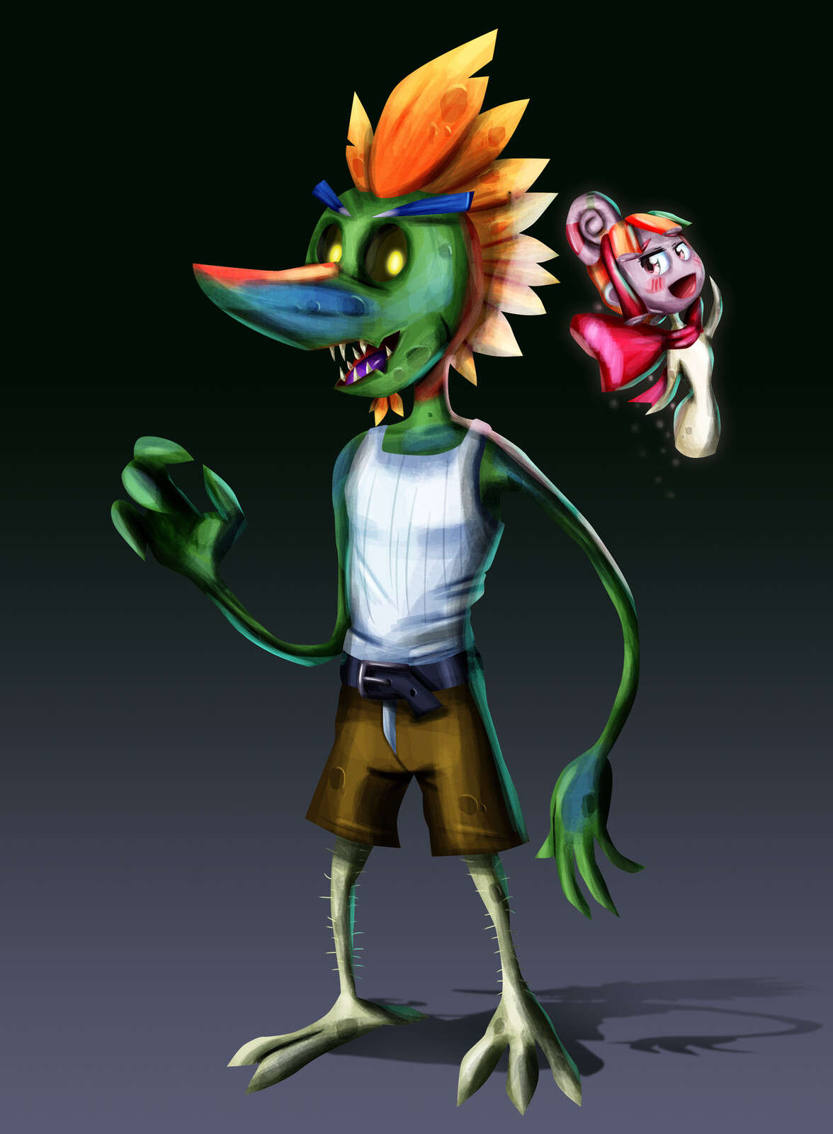 Better renders of the protagonists.