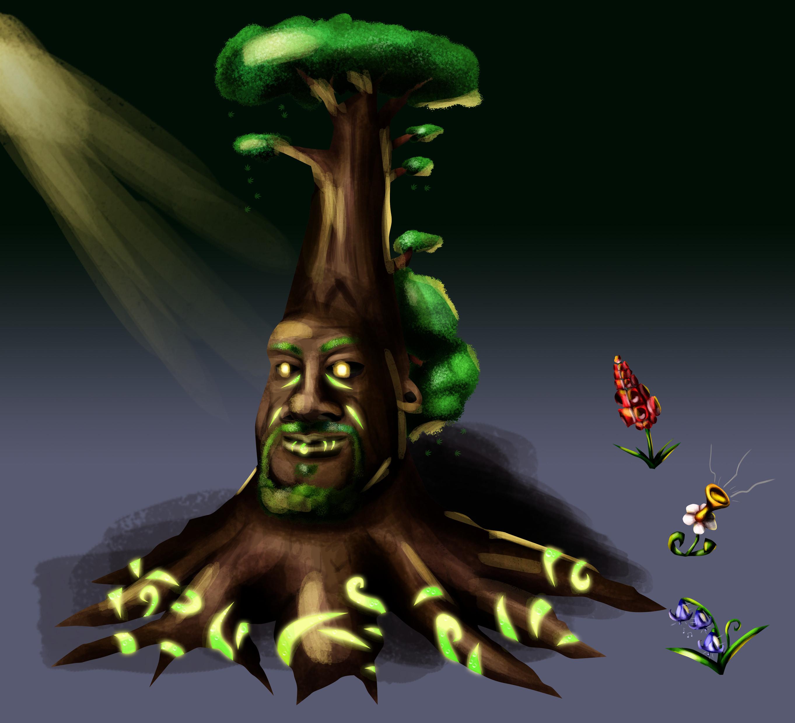 The Snoop Tree. His leaves are marijuana leaves...