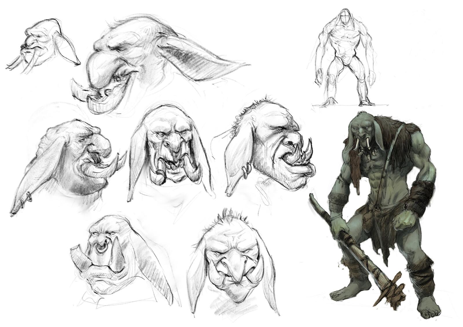 White goblin concept