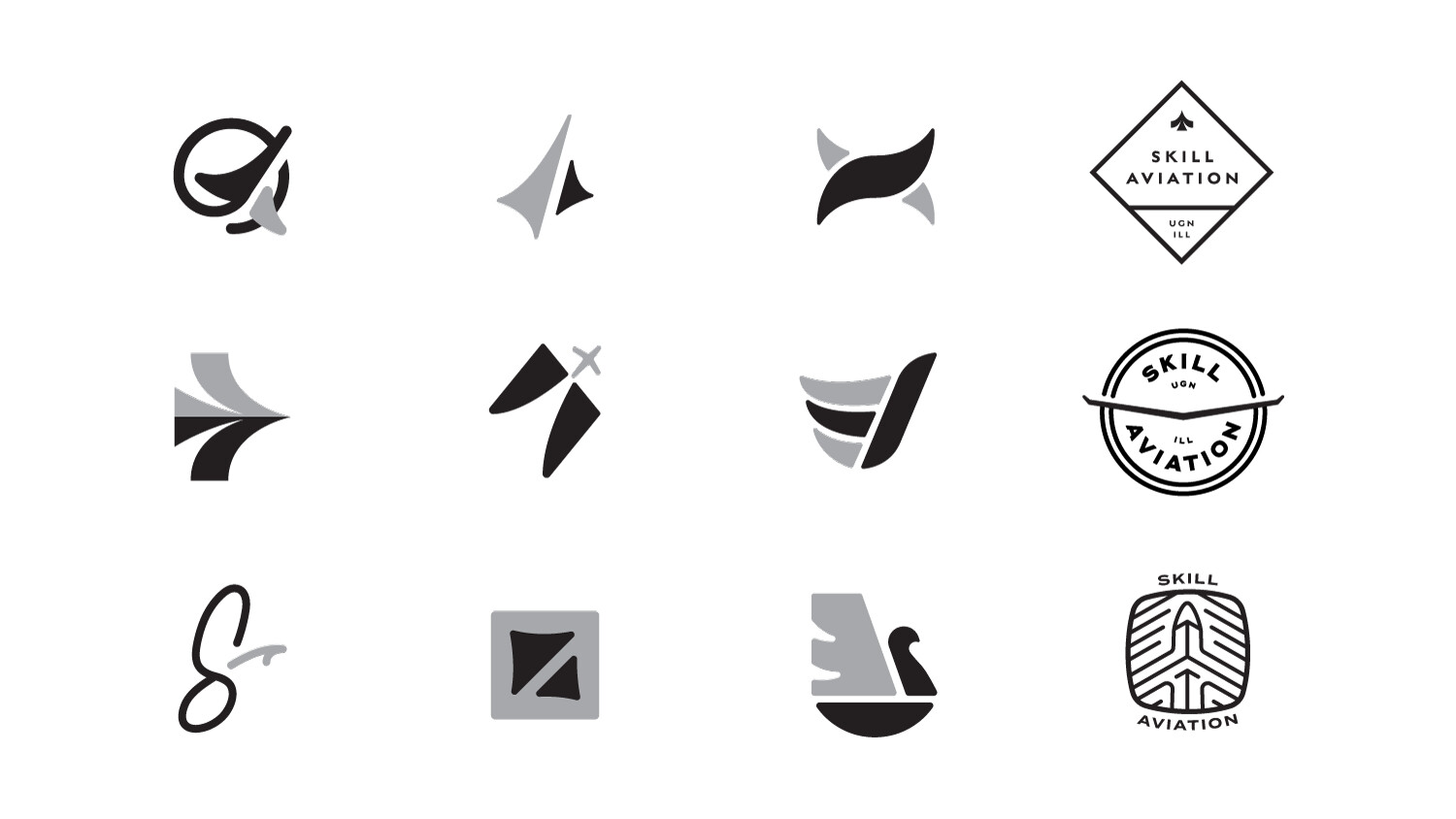 Initial logo and badge concepts