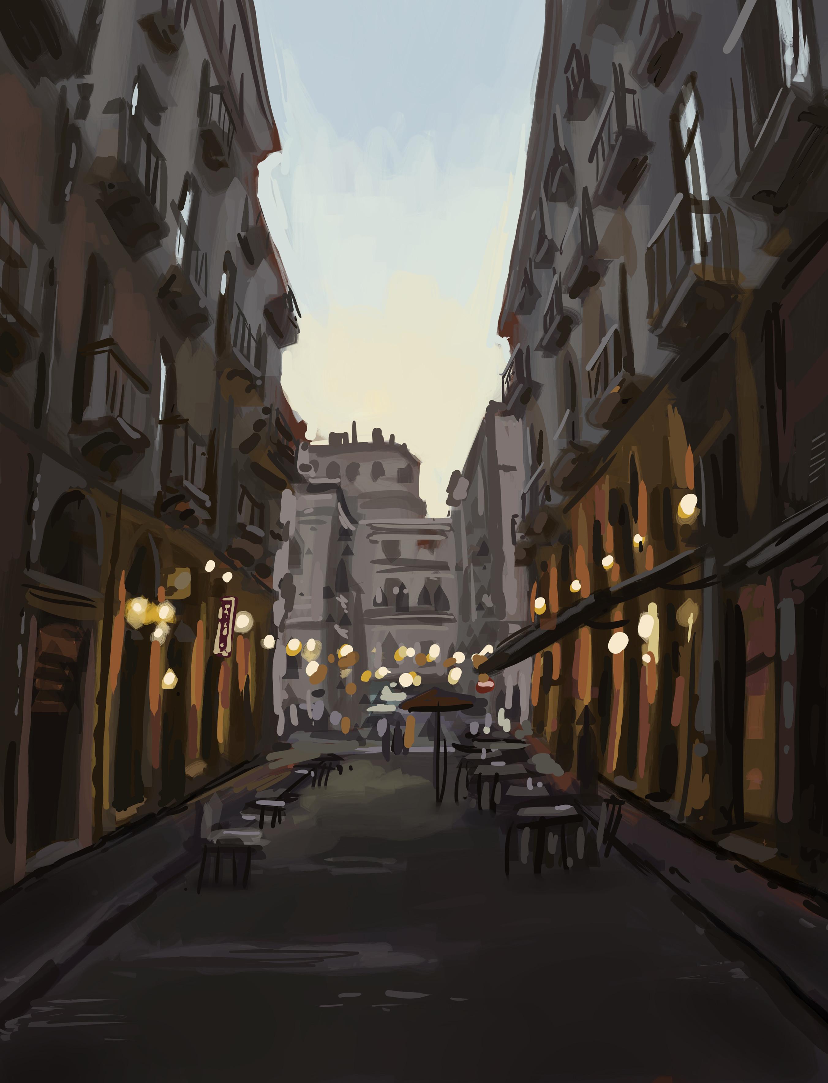 Italian street square