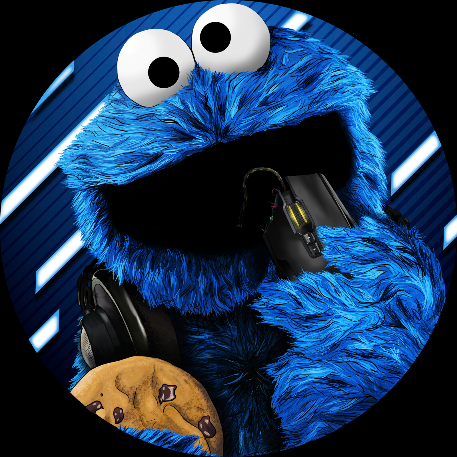 ArtStation - Cookie Monster Discord Profile , Alex Masko