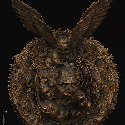 Surajit sen frame of hell digital sculpture surajit sen nov2020 l