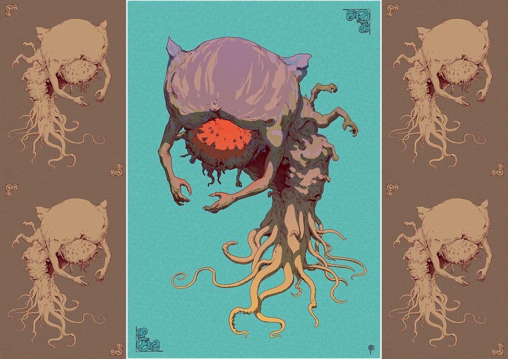 """PL: Ilustracja """"12 Creatures"""" styczeń  ENG: """"12 Creatures"""" January illustration"""