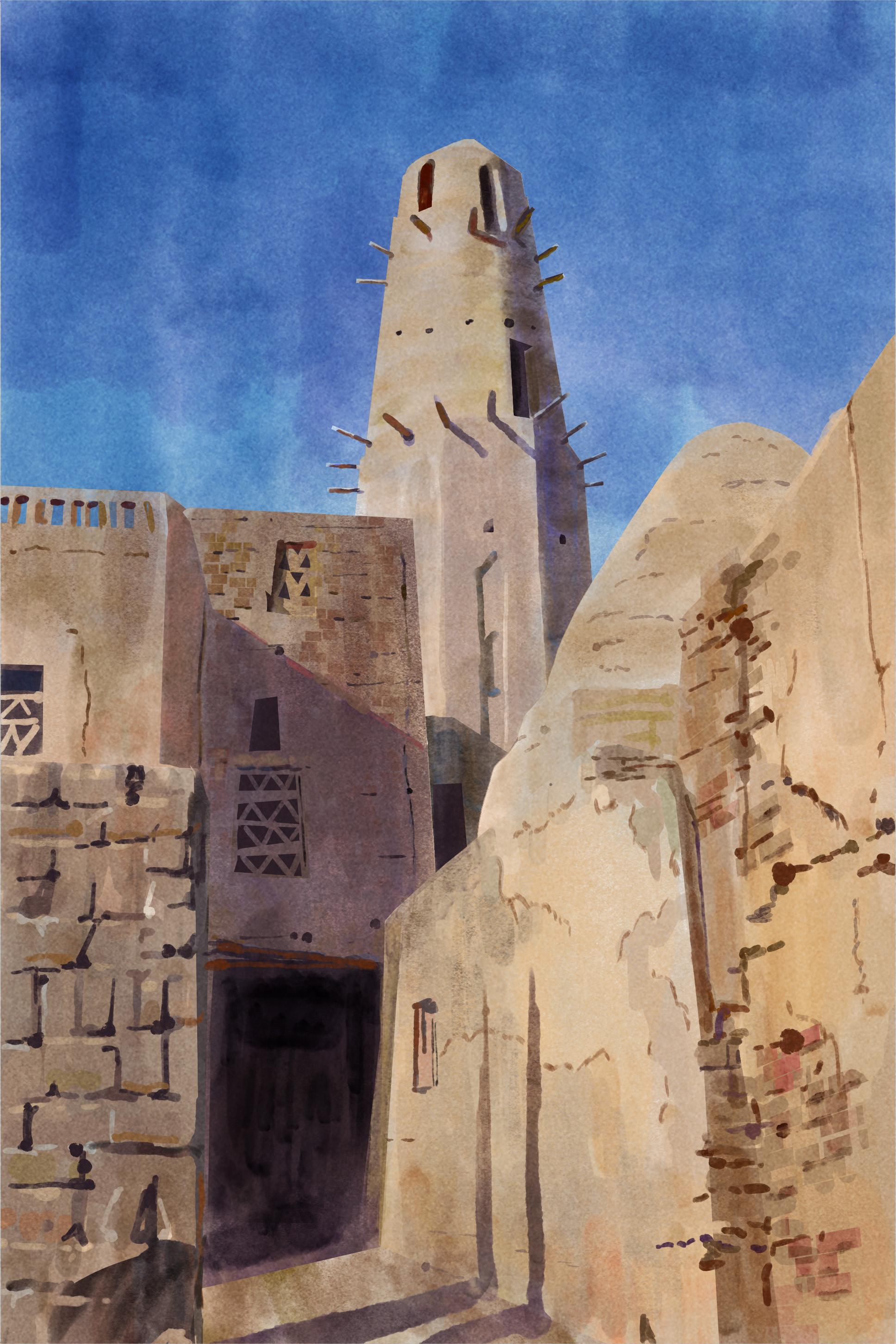 Photo study of Al Qasr, Mosque in Dakhla Oasis